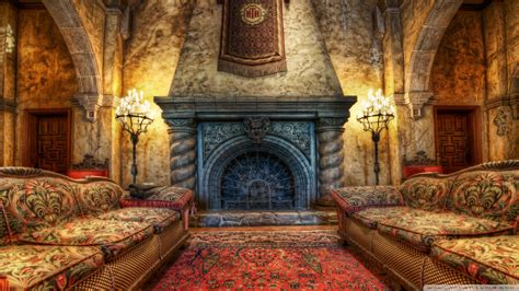 The Fireplace In The Tower Of Terror Ultra HD Desktop