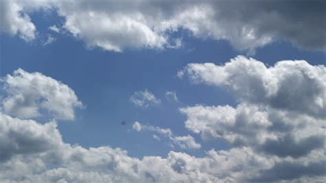 Many Large Clouds with Little Stock Footage Video (100%