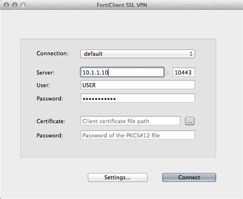 Connect To Fortinet VPN On OSX, Download FortiClient SSL