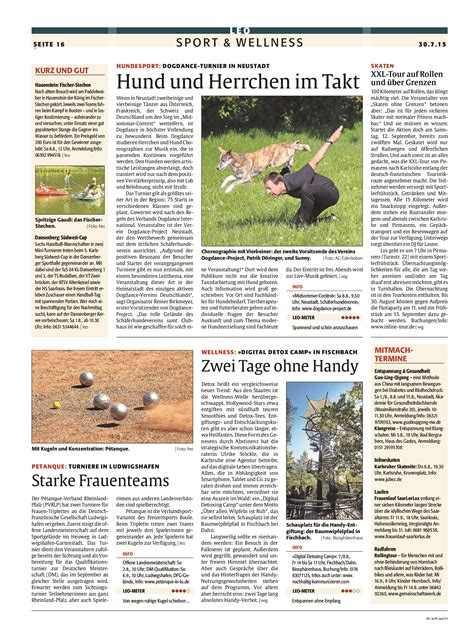 Presse - yes, we dance! The Dogdanceproject