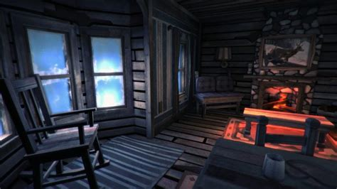 The Long Dark, Cabin, Cold, Fireplace, Chair, Literature