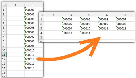 microsoft excel - How to convert column of numbers to text