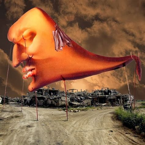 Famous Iconic Paintings Superimposed On The War-Torn