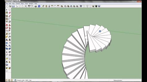 Google SketchUp Pro 8 - Spiral Staircase Tutorial - YouTube