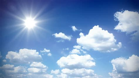 Sunny Sky with Clouds - Stock Footage Video (100% Royalty