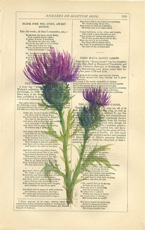 Scottish+Thistle+++Original+Watercolor+Painting++by