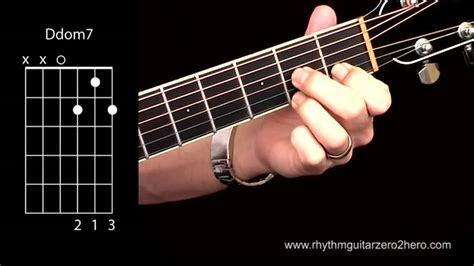 Acoustic Guitar Chords - Learn To Play D7 a