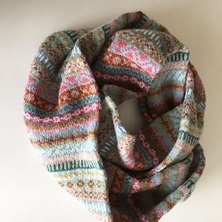 Ravelry: Fair Isle Cowl in Soft Colors pattern by Sytske