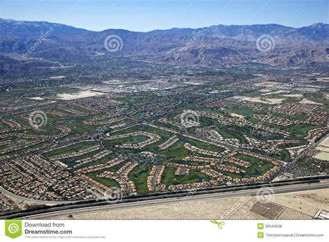 Aerial View Of The Coachella Valley, California Royalty