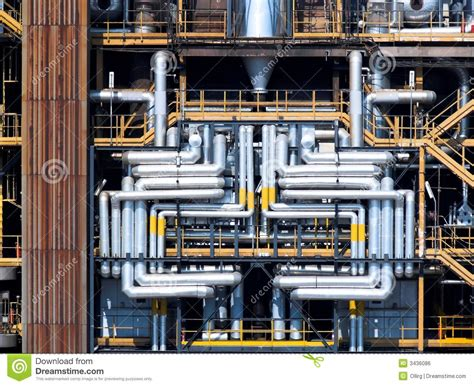 Pipes refinery chemistry stock photo