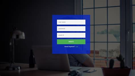 How To Create Login & Registration Form Using HTML CSS