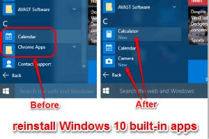 How To Reinstall Built-In Apps in Windows 10