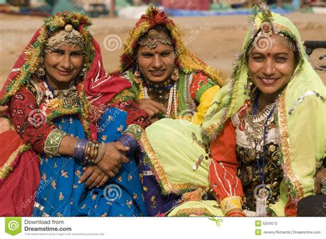 Group Of Indian Dancers In Traditional Dress Editorial